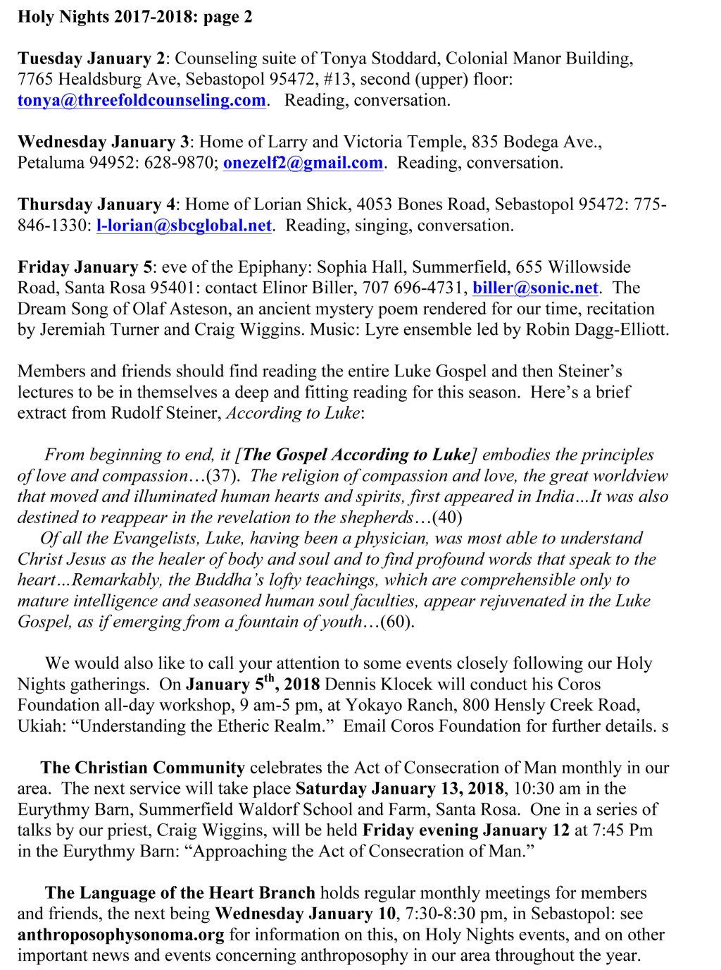 Microsoft Word - Final Draft to members and friends re Holy Nigh